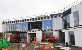 Progress at Macmillian Cancer Centre, Chesterfield Royal Hospital